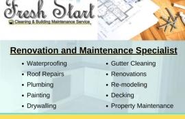 Fresh Start - Cleaning & Maintenance Service